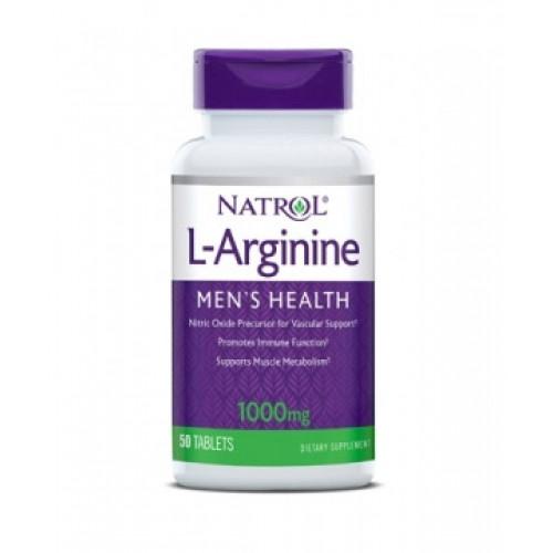 Natrol Л- Аргинин 1000 мг (50 таб)